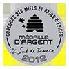 Miellerie récompense médaille d'argent 2012 miel de forêt Roussillon 66