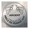 Miellerie récompense médaille d'argent 2017 miel de tilleul Roussillon 66