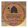 Récompense médaille de bronze miel de garrigues 2011 Roussillon 66