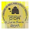 Miellerie récompense médaille d'or miel de montagne 2011 Roussillon 66