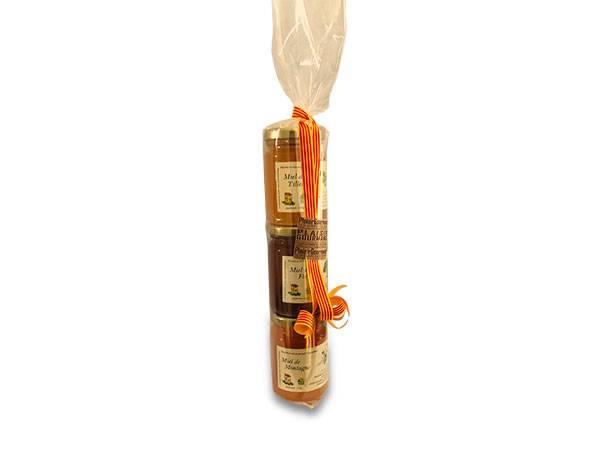 Coffret de 3 pots de miel de 125 grammes